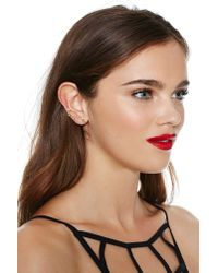 Nasty Gal | Metallic Kayla Earrings | Lyst