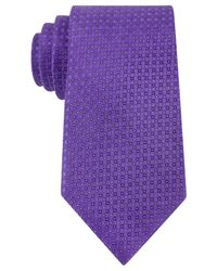 Kenneth Cole Reaction | Purple Mini Square Tie for Men | Lyst