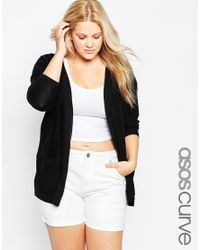Asos Curve | Black Chuck On Cardi | Lyst