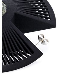 Vojd Studios | Black 'phase' Earrings | Lyst
