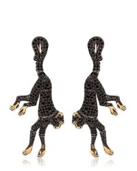 Roberto Cavalli | Black Monkey Earrings With Swarovski Crystals | Lyst