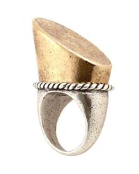 Low Luv by Erin Wasson | Metallic Tall Horse Hoof Ring | Lyst