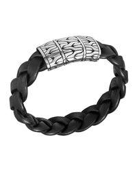 John Hardy | Black Men's Extra-large Classic Chain Braided Bracelet for Men | Lyst