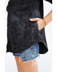 BDG | Black Theo Flannel Shirt | Lyst