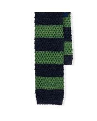 Polo Ralph Lauren | Blue Striped Knit-silk Tie for Men | Lyst