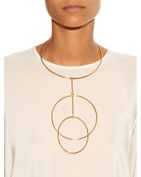 Stella McCartney | Metallic Double-Circles Necklace | Lyst
