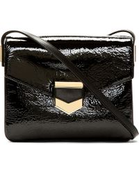 Time's Arrow - Black Patent Leather Sidra Shoulder Bag - Lyst