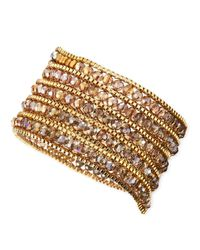 Nakamol | Metallic Czech Crystal Beaded Wrap Bracelet | Lyst