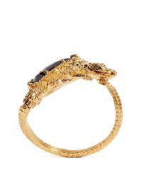 Alexander McQueen | Metallic Salamander Rock Crystal Cuff | Lyst