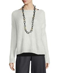 Eileen Fisher | White Airy Mohair Box Top | Lyst