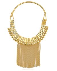 House of Lavande | Metallic Fringe Collar | Lyst