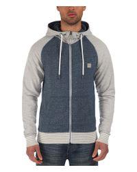 Bench | Blue Pernarth Plain Zip-thru Hoodie for Men | Lyst