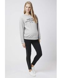 TOPSHOP - Gray Maternity Oakland California Sweatshirt - Lyst