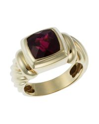 David Yurman - Yellow Pre-Owned 5.1 Dwt 14K Gold Garnet Ring - Lyst