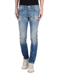 Patrizia Pepe - Blue Denim Trousers for Men - Lyst