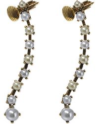 Erickson Beamon | White Pearly Queen Cuff Earrings | Lyst