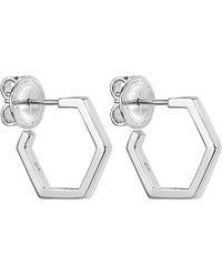 Theo Fennell | Metallic Alias Sterling Silver Honeycomb Hoop Earrings | Lyst