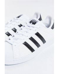 Adidas Originals - White Superstar Foundation Leather Sneakers - Lyst