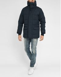 Homecore | Blue Navy Damer Sherpa/feather Lining Cotton Parka for Men | Lyst