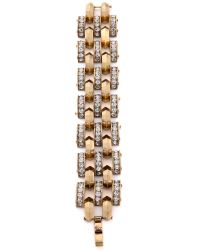 Lulu Frost | Metallic Veratrum Bracelet - Clear/gold | Lyst