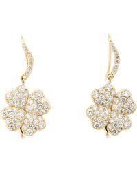Aurelie Bidermann - Green Four-leaf Clover Drop Earrings - Lyst