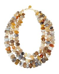 Devon Leigh | Multicolor Multistrand Agate Necklace | Lyst
