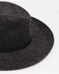Zara | Gray Wide Brim Hat | Lyst