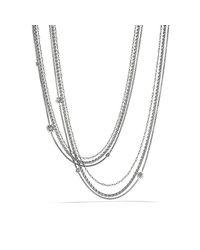 David Yurman - White Starburst Pearl Chain Necklace - Lyst