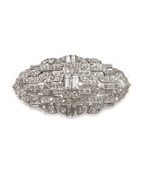 Ben-Amun | Metallic Crystal Deco Brooch | Lyst