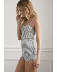 Forever 21 | Natural Stripe Ribbed Knit Pj Set You've Been Added To The Waitlist | Lyst