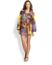 Jean Paul Gaultier | Multicolor Palm print Coverup | Lyst