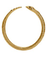 Pamela Love - Metallic Sapphire & Gold Serpent Bangle - Lyst