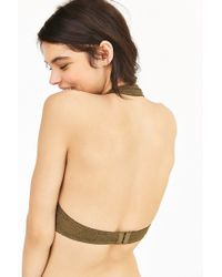 Pins And Needles | Green Geo Lace Halter Bra | Lyst