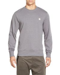 Bench | Gray 'contextual' Regular Fit Crewneck Sweatshirt for Men | Lyst