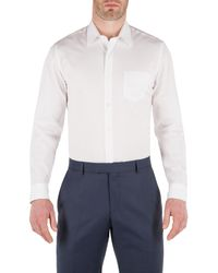 Racing Green - White Jonathan End On End Formal Shirt for Men - Lyst