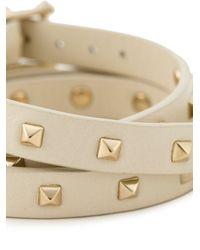 Valentino - Natural 'Rockstud' Bracelet - Lyst