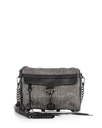 Rebecca Minkoff - Black Striped Calf Hair Mini Mac Shoulder Bag - Lyst