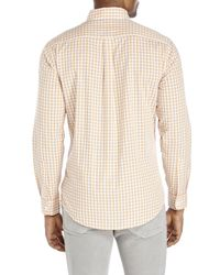 Dockers | Orange Gingham Button-Down Shirt for Men | Lyst