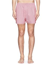 Sunspel - Pink Cotton Boxer Shorts for Men - Lyst