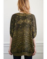 Forever 21 | Green Paisley Print Kimono | Lyst