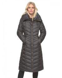 Marc New York | Black Karen Quilted Maxi Jacket | Lyst