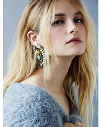 Free People | Multicolor Deepa Gurnani Womens Athena Statement Earring | Lyst