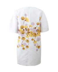 Giambattista Valli - Metallic Floral Print Dress - Lyst