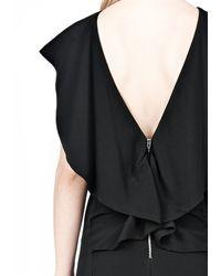 Alexander Wang | Black Vaccum Pressed Open Folded Back Dress | Lyst
