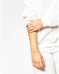 Asos Curve | Metallic Sterling Silver Fine Cuff Bracelet | Lyst