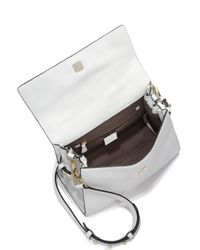 Luana Italy - White Paley Pebbled Leather & Saffiano Leather Satchel - Lyst