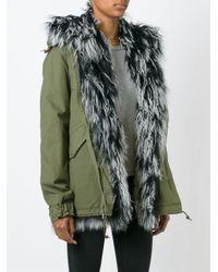 Mr & Mrs Italy - Green Lamb Fur-Lined Parka Jacket  - Lyst