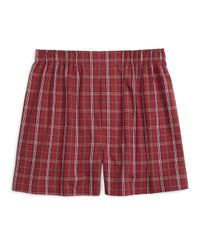 Brooks Brothers | Purple Traditional Fit Signature Tartan Boxers for Men | Lyst