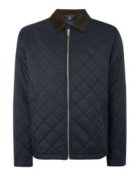 GANT | Black Quilted Windcheater for Men | Lyst