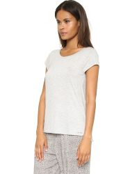 Calvin Klein | Gray Short Sleeve Pajama Top - Heather Grey | Lyst